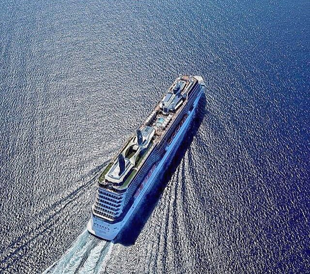 drone shots of cruise ships