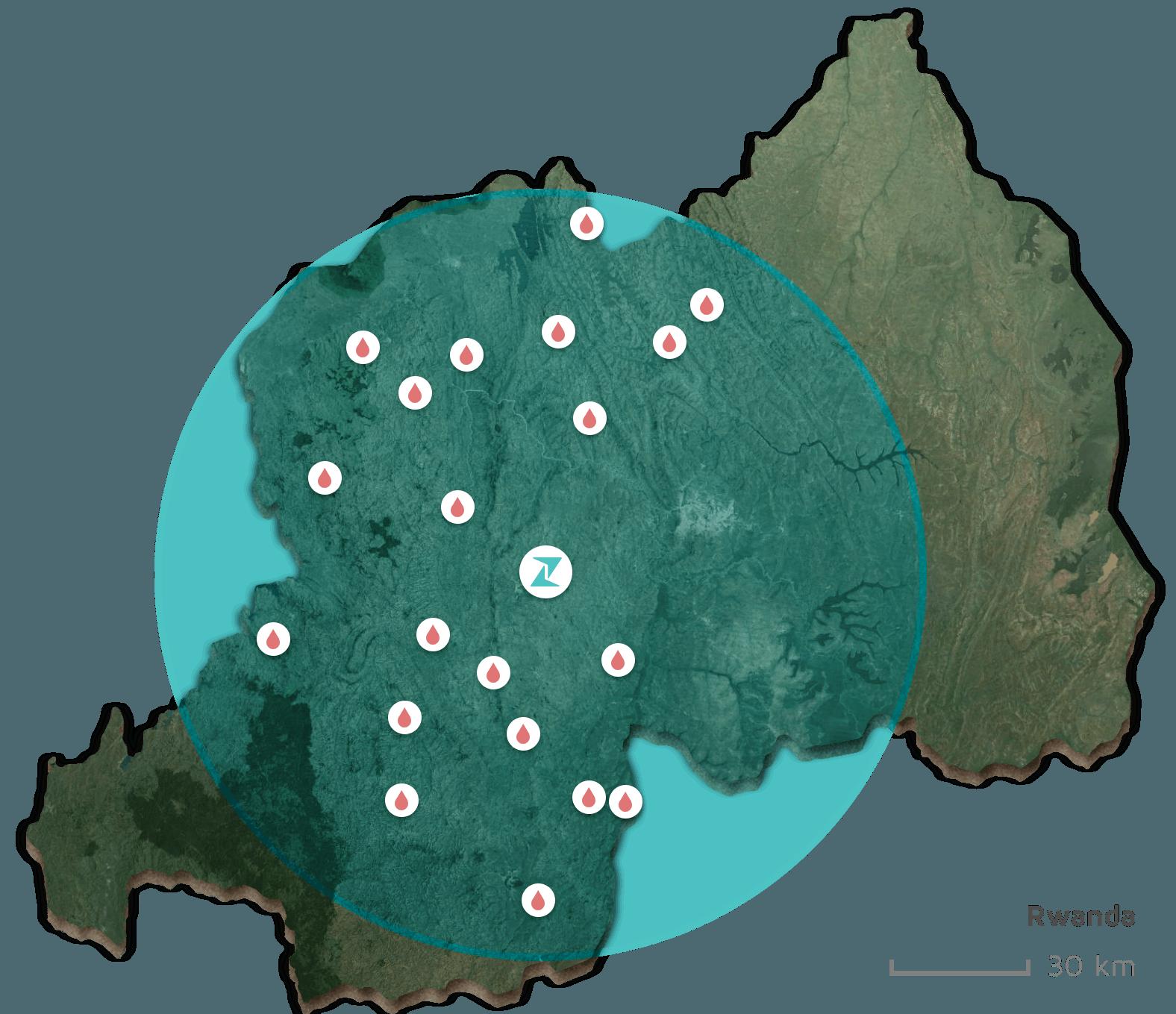 Zipline - Rwanda Delivery Sites