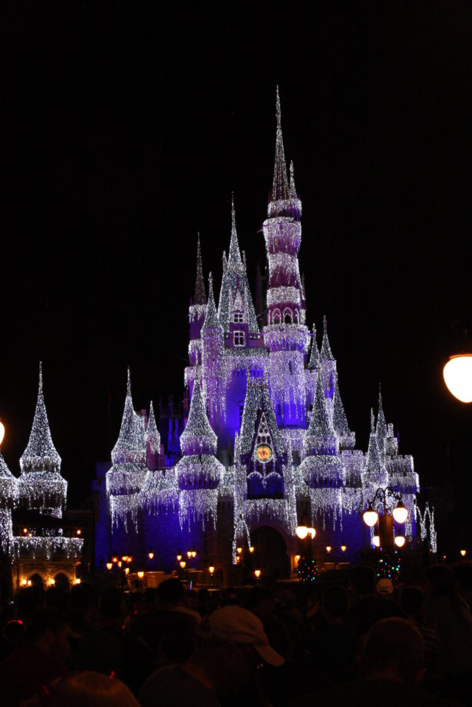 Lights illuminating on the castle can do virtually anything, including make ice crystals magically form (Image: FullDrone.com)