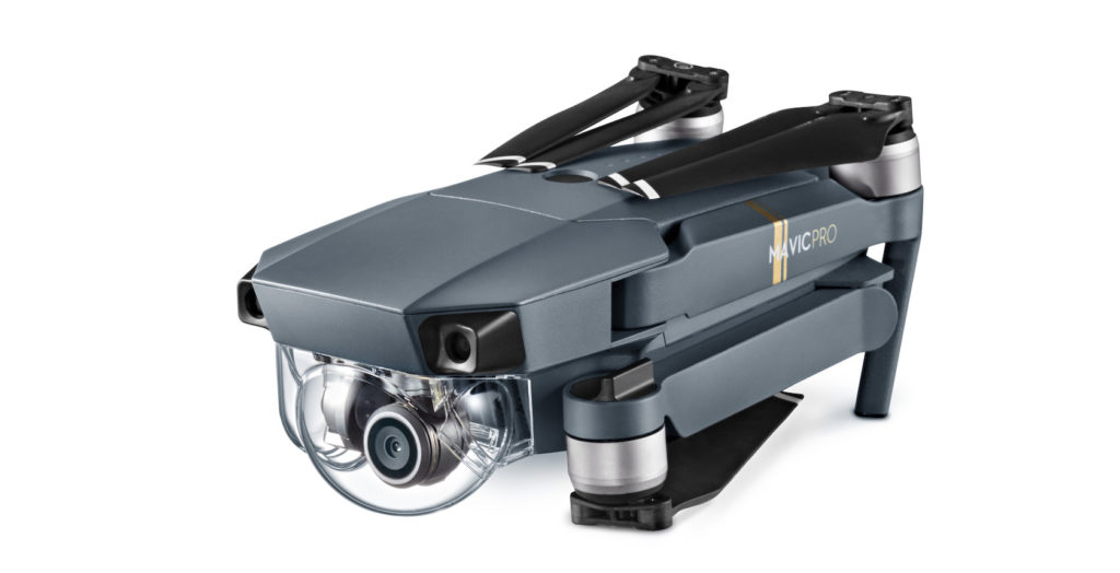 The Mavic Pro in its folded state.