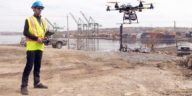 construction site drone