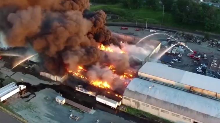 Drone Captures Flames