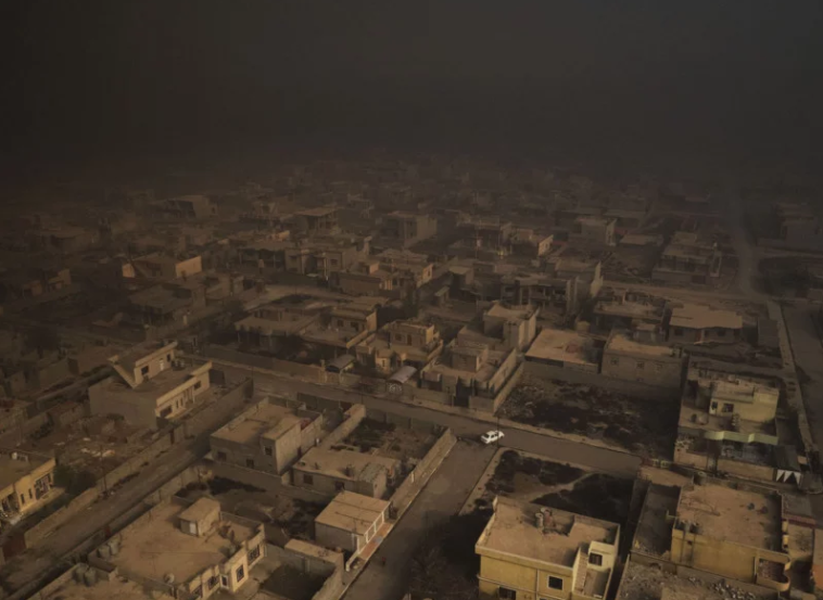 Drone in a war zone